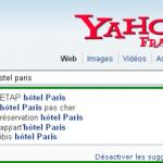 Yahoo France propose des requêtes avec les recherches suggérées