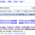 Importance du nom de domaine pour le référencement Google, Yahoo, MSN