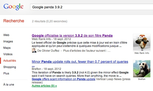 Referencement Google Actualite
