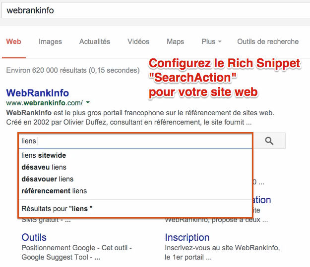 Rich Snippet SearchAction
