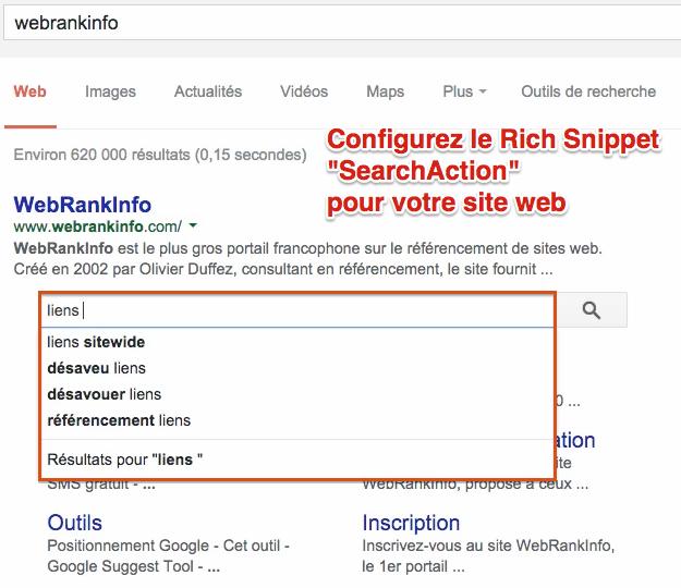 982b699b7b80 SERP Google   gérer la Search Box Sitelinks pour son site