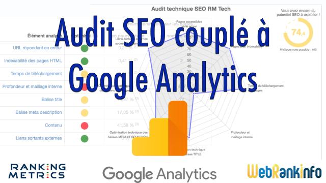 Audit SEO incluant Google Analytics