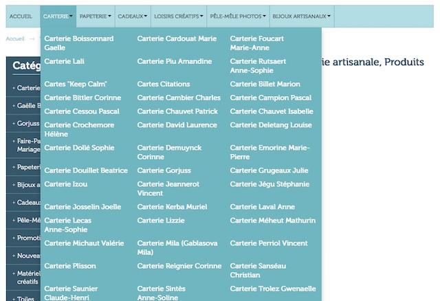 Page contenu vide gros menu