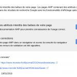 Pages AMP : rapport dans Search Console et 2 vidéos tuto