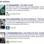 Google met en avant des articles de fond par un encadré dans les résultats