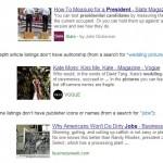 Etude sur les articles de fond intégrés dans les SERP Google.com