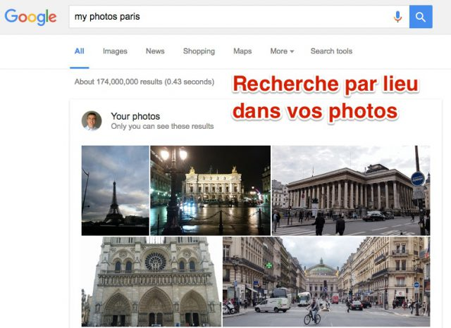 Vos photos Google par lieu