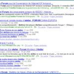 Google affiche des SiteLinks pour les forums