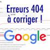 Suppression erreurs 404