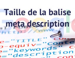 Taille meta description