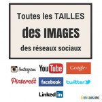 Taillesdes images pour les réseaux sociauxen 2016