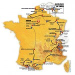 Etapes Tour de France 2012 : parcours Google Maps