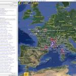 Etapes du Tour de France 2013 dans Google Earth :itinéraire, carte 3D, villes étapes