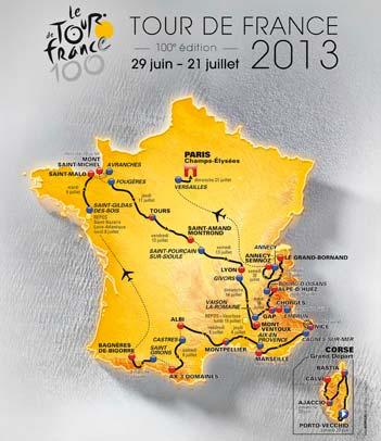 Tour de France 2013: parcours complet