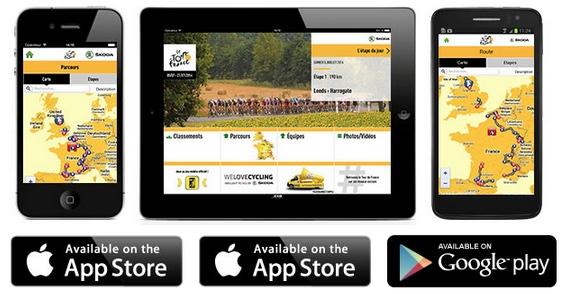 Appli Tour de France 2014