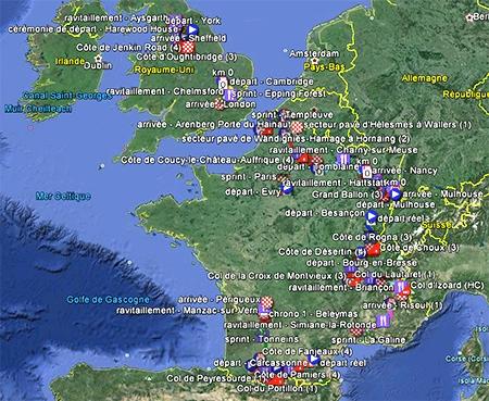 Tour de France 2014 Google Earth