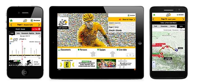 Appli officielle Tour de France