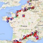 Parcoursdu Tour de France 2015 dans Google Earth et Maps : itinéraire, carte 3D, villes étapes