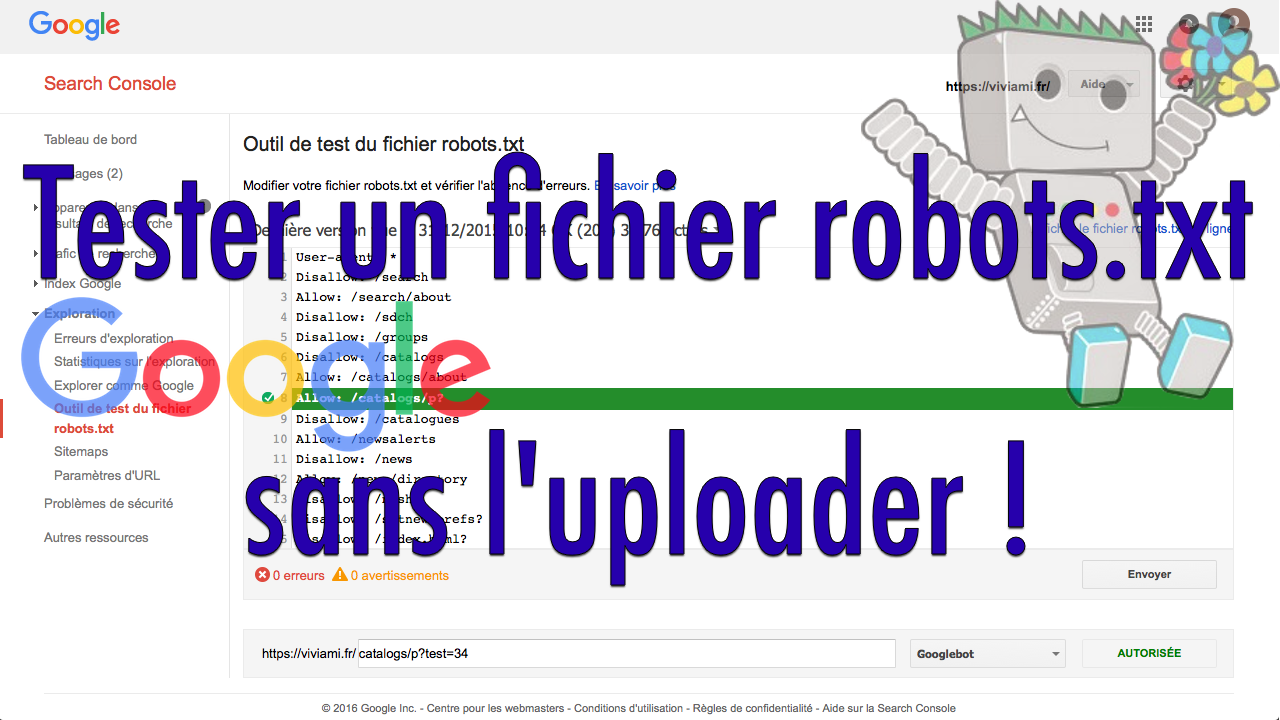 Test fichier robots.txt
