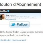 Le bouton Twitter pour faciliter l'abonnement
