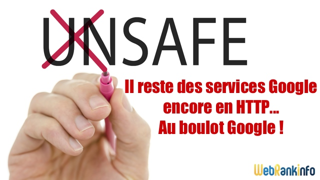 Services Google non sécurisés HTTPS