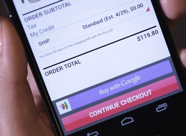 Instant Buy sur Google Wallet