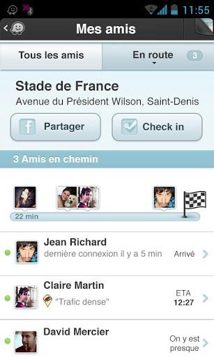 Waze (capture d'écran 4)