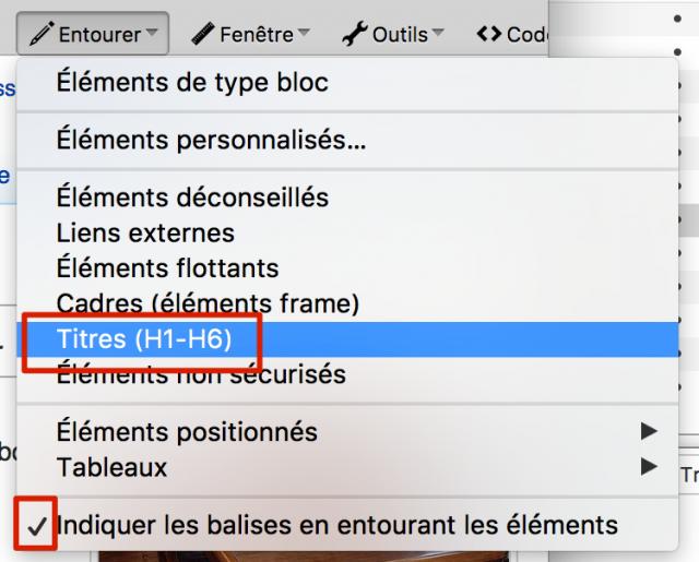 Web developer titres h1 h6
