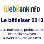 Humour : le bêtisier 2013 du site WebRankInfo