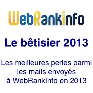 Betisier 2013 WebRankInfo