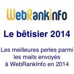 Humour : le bêtisier 2014 du site WebRankInfo