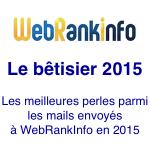 Humour : le bêtisier 2015 du site WebRankInfo