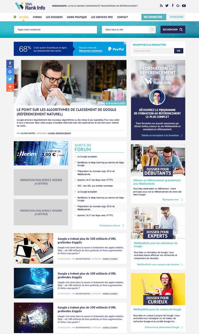 WebRankInfo v5 (accueil)