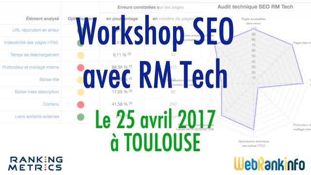 Workshop SEO RM Tech Toulouse