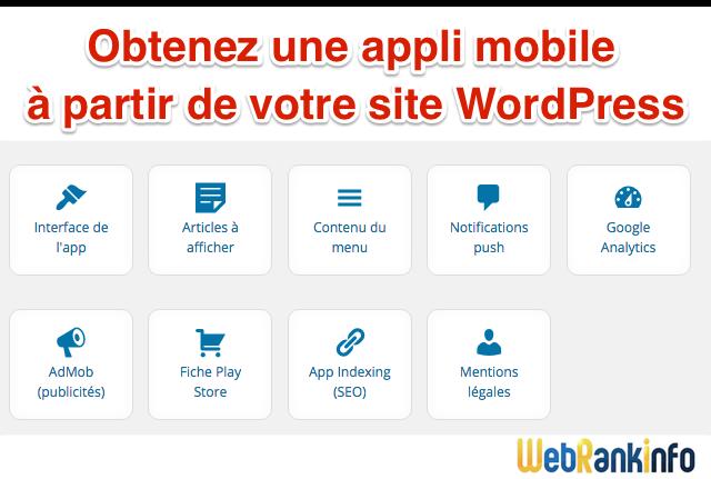 Appli mobile pour WordPress