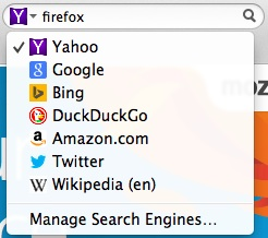 Yahoo moteur par défaut Firefox USA