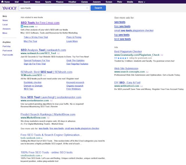 Résultats Yahoo fournis par Bing