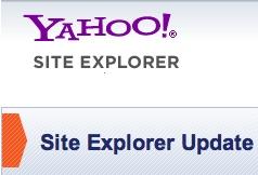 Fin de Yahoo SiteExplorer