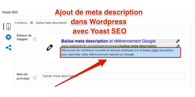 Meta description wordpress SEO yoast