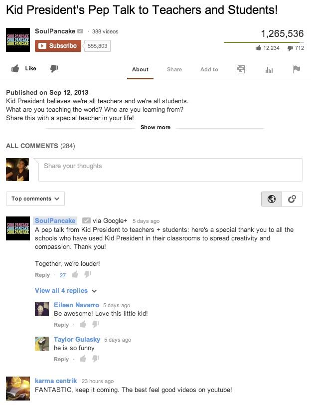 Commentaires YouTube avec Google Plus