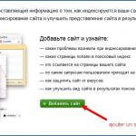 Les outils pour webmasters sur le moteur Yandex