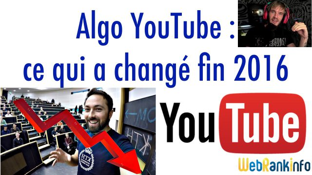 Algo YouTube fin 2016