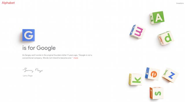 Alphabet holding Google