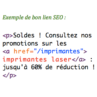 Anchor text d'un lien optimisé pour SEO