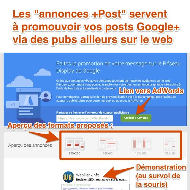 Configuration d'une annonce +Post