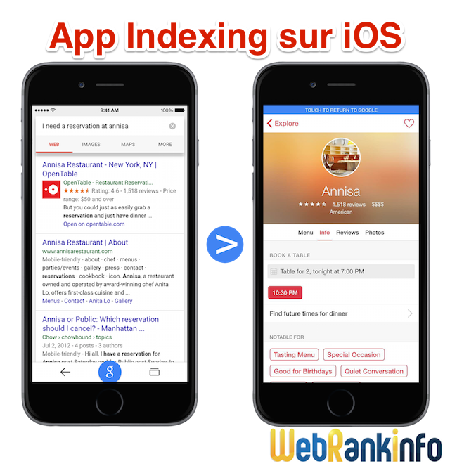 App Indexing iPhone et iOS