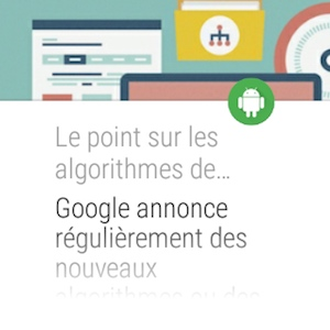 Listing d'articles appli Android Wear