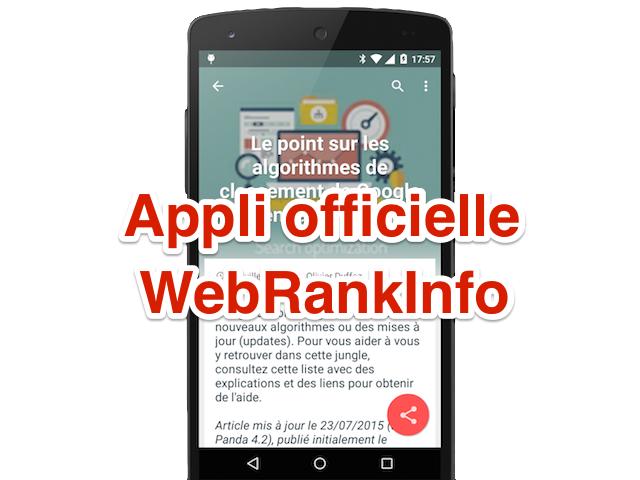 Appli WebRankInfo Android5