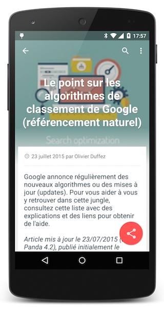 Article appli smartphone