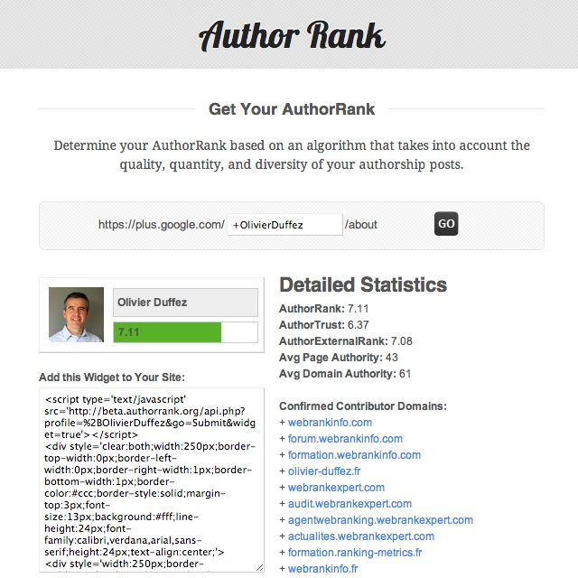 Outil author rank.org